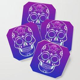 Love Skull (violette gradient) Coaster
