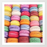 macarons Art Prints featuring Macarons by Sankakkei SS