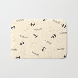 Sagittarius Pattern - Beige Bath Mat