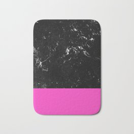 Pink Meets Black Marble #1 #decor #art #society6 Bath Mat