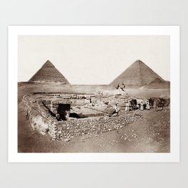 The Great Sphinx and Pyramids - 1867 Art Print