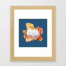 Cat dreams Framed Art Print