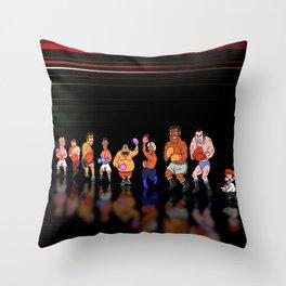Punch Out - Pixel art Throw Pillow