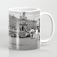 spain Mugs featuring Spain by Brooke Armstrong