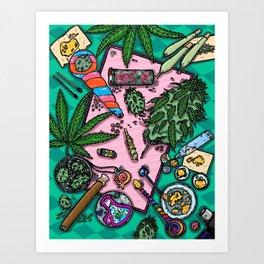 Cannabis Altar I Art Print