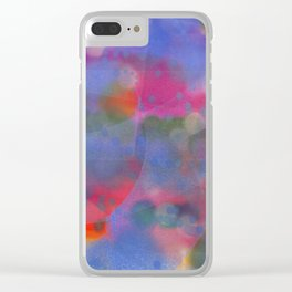 Bright Sky Abstract Clear iPhone Case