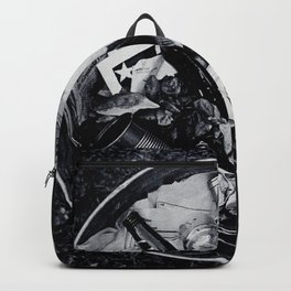 Garbage. Backpack