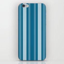 Dark Cerulean Victorian Lady Stripe iPhone Skin