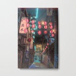 Shibuya Night Walks Metal Print
