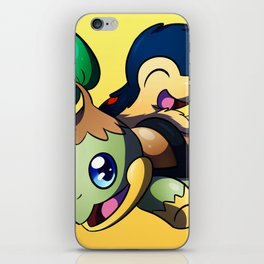Turtwig and Cyndaquil iPhone Skin