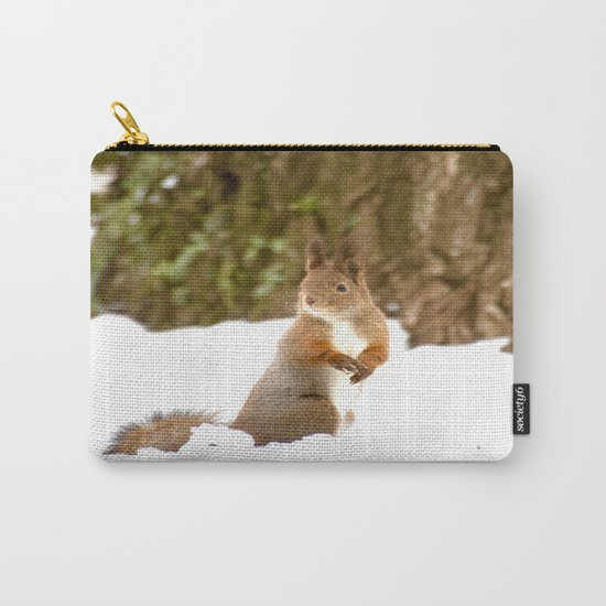 Cute Squirrel In The Forest Carry-All Pouch