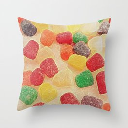 Gum Drops In The Snow Throw Pillow