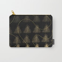 Fading Trees Gold on black Carry-All Pouch