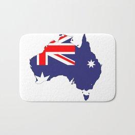 Australia Flag Map Bath Mat