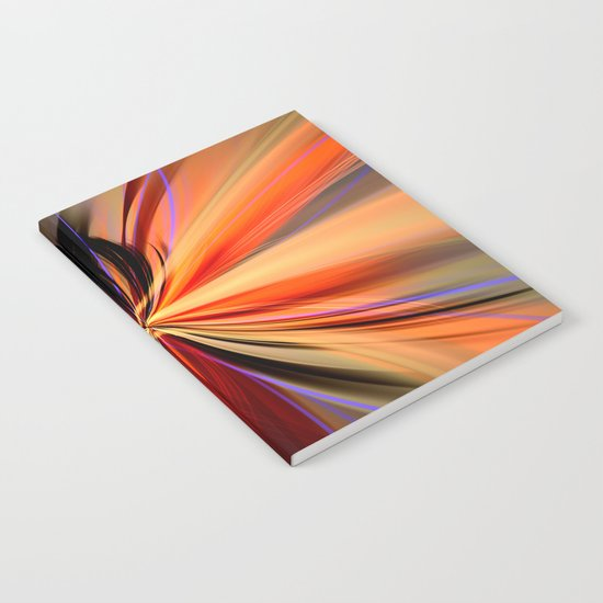 Artistic colourful abstract butterfly Notebook
