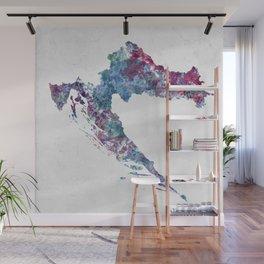 Croatia map Wall Mural