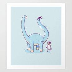 A new friend Art Print