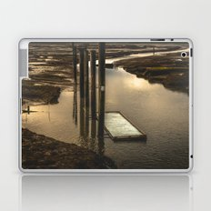 Dock of the Bay - Travel Oregon Washington Water Sunset Vintage Abstract Nature Photography Fishing Laptop & iPad Skin