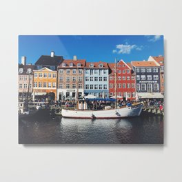 Beer o'clock in Copenhagen. Metal Print