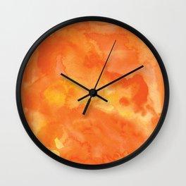 Watercolor Orange Wall Clock