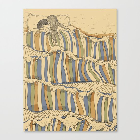 Ocean of love Canvas Print