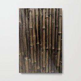 Bamboo Blind Metal Print