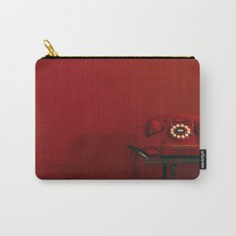 Red Retro Telephone Carry-All Pouch