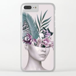 Tropical Girl 3 Clear iPhone Case