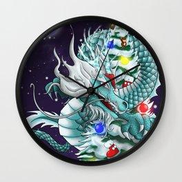 Christmas Santa Chinese Dragon ArtofFD Wall Clock