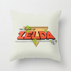 The Legend of Zelda Logo Throw Pillow