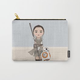 Kokeshis Rey and cute droid Carry-All Pouch