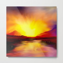 Skye Sunset Metal Print