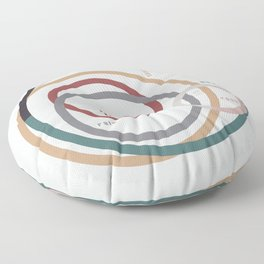 for Love || words & circles Floor Pillow