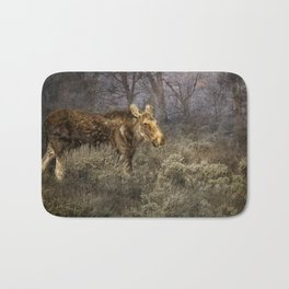 The Calm of a Moose Bath Mat