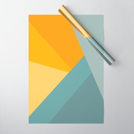 Abstract Mountain Sunrise Wrapping Paper