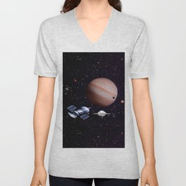 We meet with the Jupiter. Unisex V-Neck
