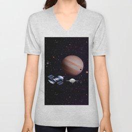 We meet with the Jupiter. Unisex V-Neck