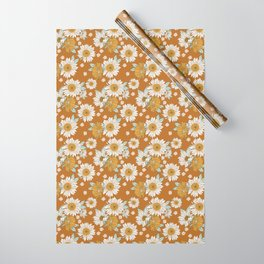 Sunflowers in Boho Brown Wrapping Paper
