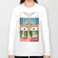 aang Long Sleeve T-shirts featuring Team Avatar by Kazuma Shimizu