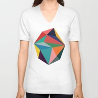30 rock V-neck T-shirts featuring Rock by Picomodi