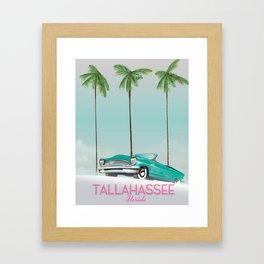 Tallahassee Florida travel poster, Framed Art Print