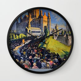 Lisieux Travel Poster Wall Clock