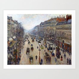 "Camille Pissarro ""Boulevard Montmartre, morning, cloudy weather"" Art Print"