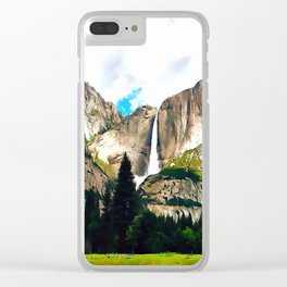 Vernal Mist Clear iPhone Case