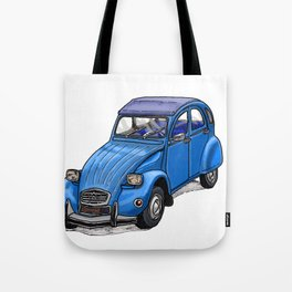 Blue 2CV Tote Bag