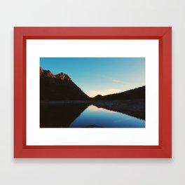 Lake Break Framed Art Print