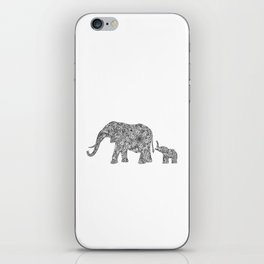 Elephant Mom & Baby iPhone Skin