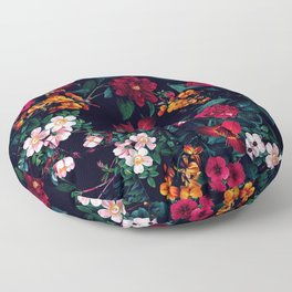 The Midnight Garden Floor Pillow
