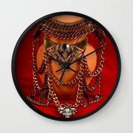 Jeweled pottery vase Wall Clock