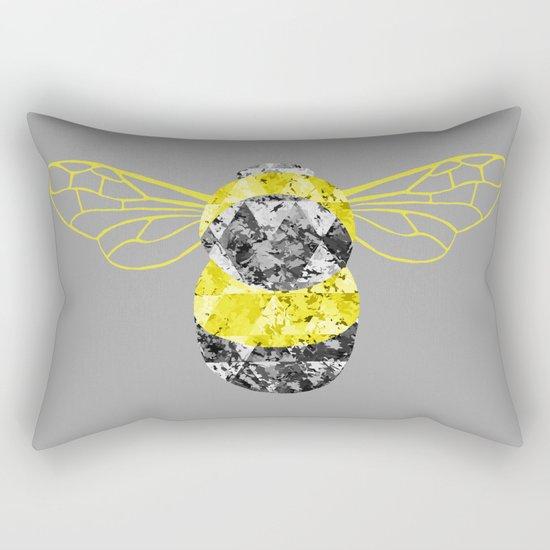 Patchwork Busy Bee Rectangular Pillow